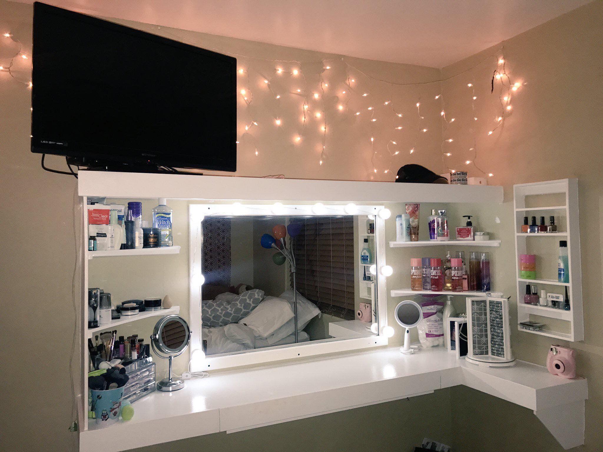 Selfmade, Einrichtung, Wohnen, Schminktisch, Schrank Eitelkeit, Vanity  Fair, Mädchen Schlafzimmer, Schlafzimmer Ideen, Traum Schlafzimmer