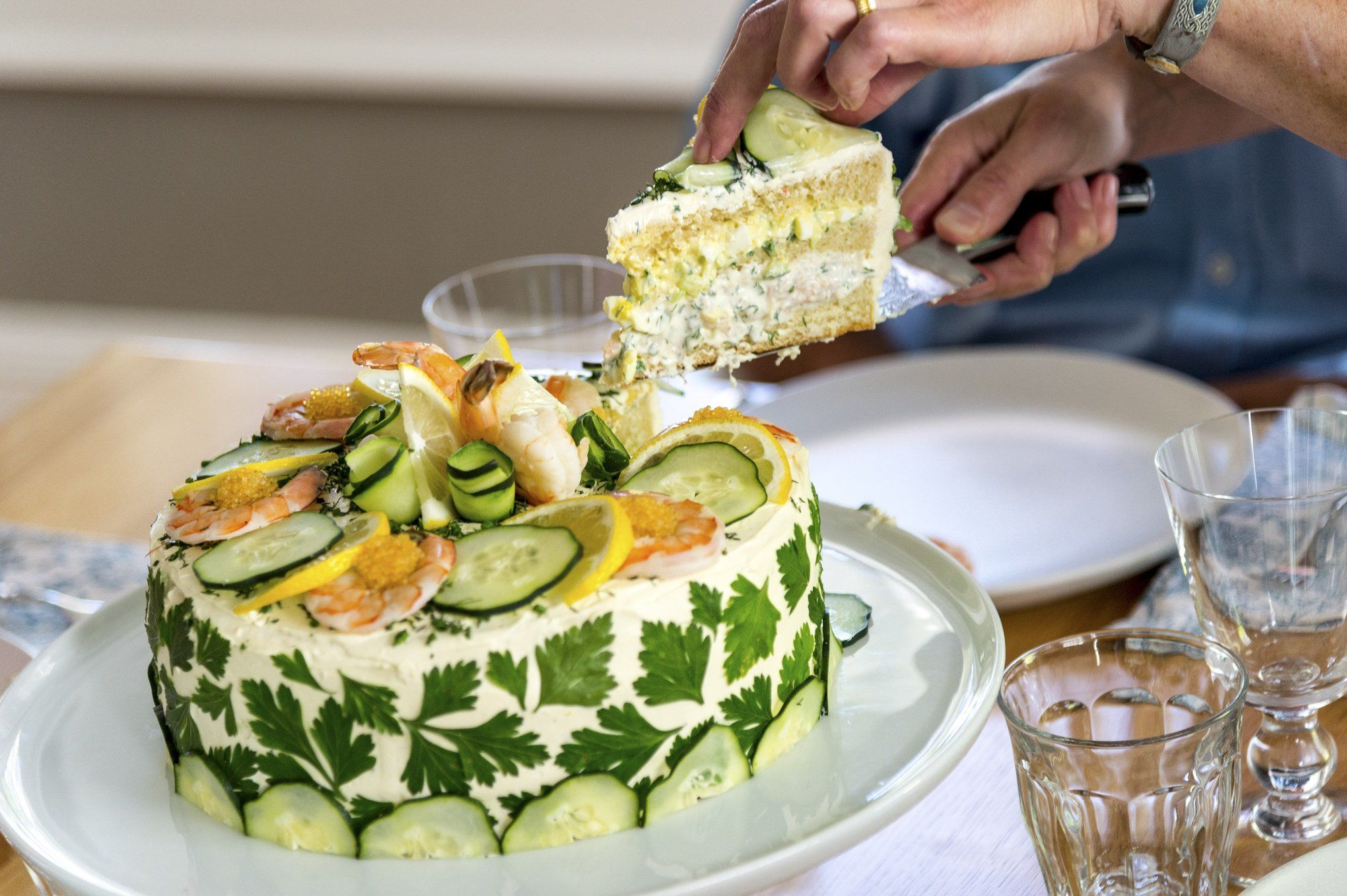 How To Make A Gaint Swedish Sandwich Cake