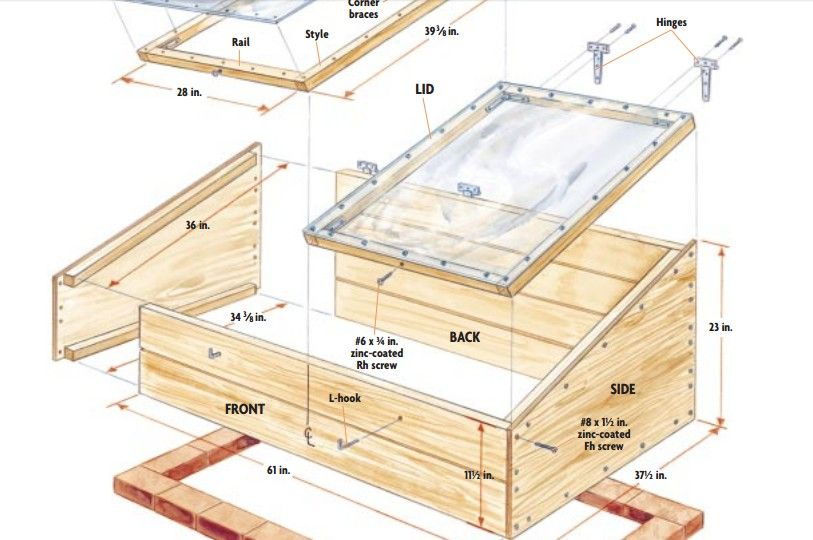 10 Easy Cold Frame Plans To Extend The Growing Season Cold Frame Plans Cold Frame Diy Cold Frame