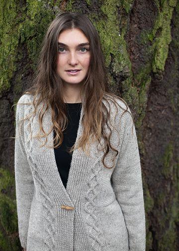 efc0d1ea22b6b5 Top Down Cardigan Knitting Pattern - Modern Cabled Sweater Pattern - Chic  Knits Tauriel - Downloadable Knitting Patterns - Chic Knits Knitting  Patterns ...