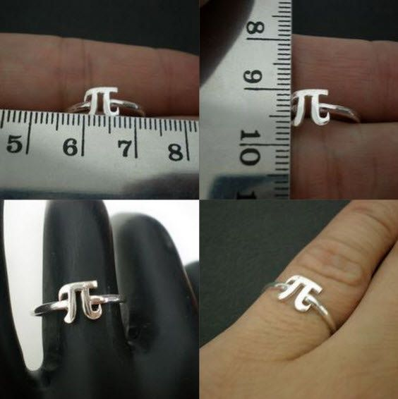 Pi Symbol Ring Phi Symbol Jewelry Pi Day Gift Idea For Teacher
