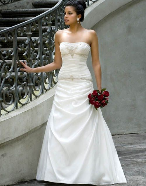 strapless wedding gowns | Simple Strapless Wedding Dresses ...