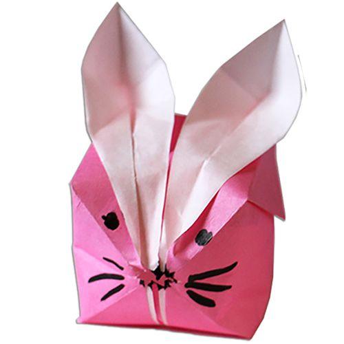 Lapin boule origami t te modeler diy p ques - Tete a modeler paques ...