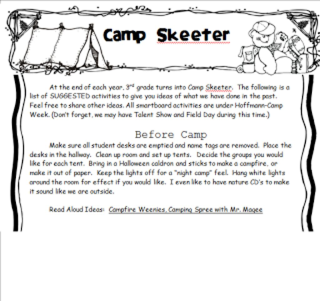Theme Worksheets 3rd Grade