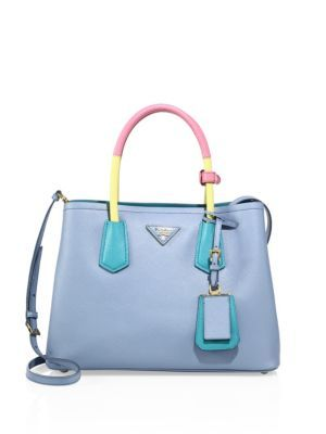 d47e042ec09c PRADA Saffiano Cuir Medium Double Bag.  prada  bags  shoulder bags  hand  bags  leather  crossbody  lining