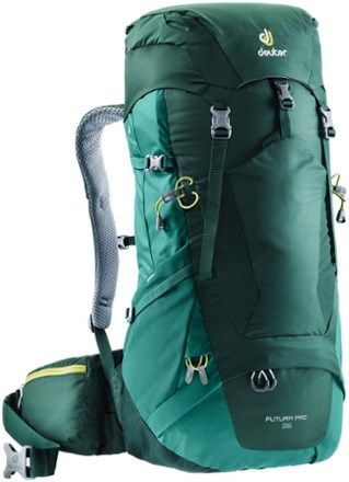 Deuter Men S Futura Pro 36 Pack Forest Alpine Green In 2019 Products Backpacks Hiking Backpack Backpack Bags