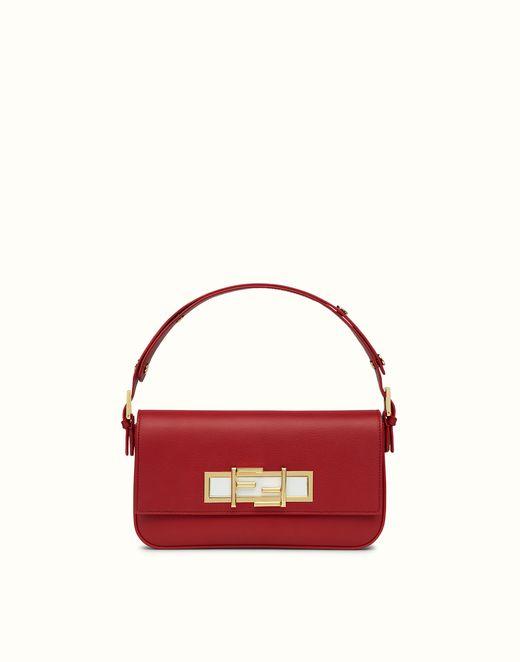 FENDI | 3BAGUETTE red and white shoulder bag