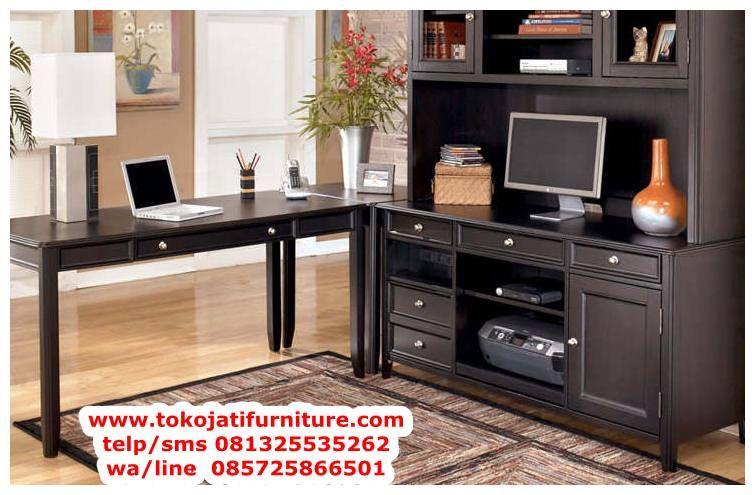 Desain Meja Kantor Jati Model Meja Kantordirektur Aneka Meja Kantor Jati Pimpinan Bentuk Office Furniture Set Cheap Home Office Home Office Furniture Design