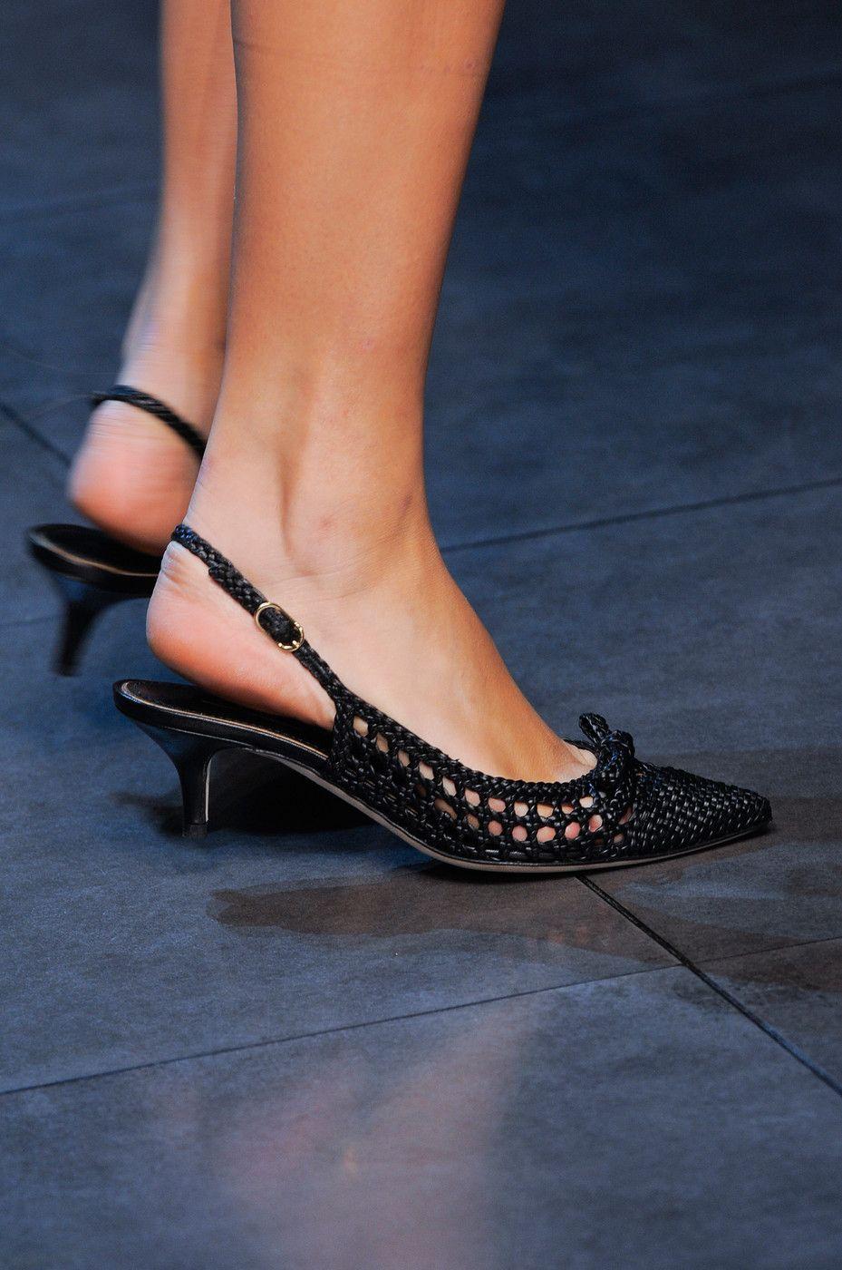 Dolce Gabbana Spring 2014 Runway Pictures Kitten Heel Shoes Heels Kitten Heels