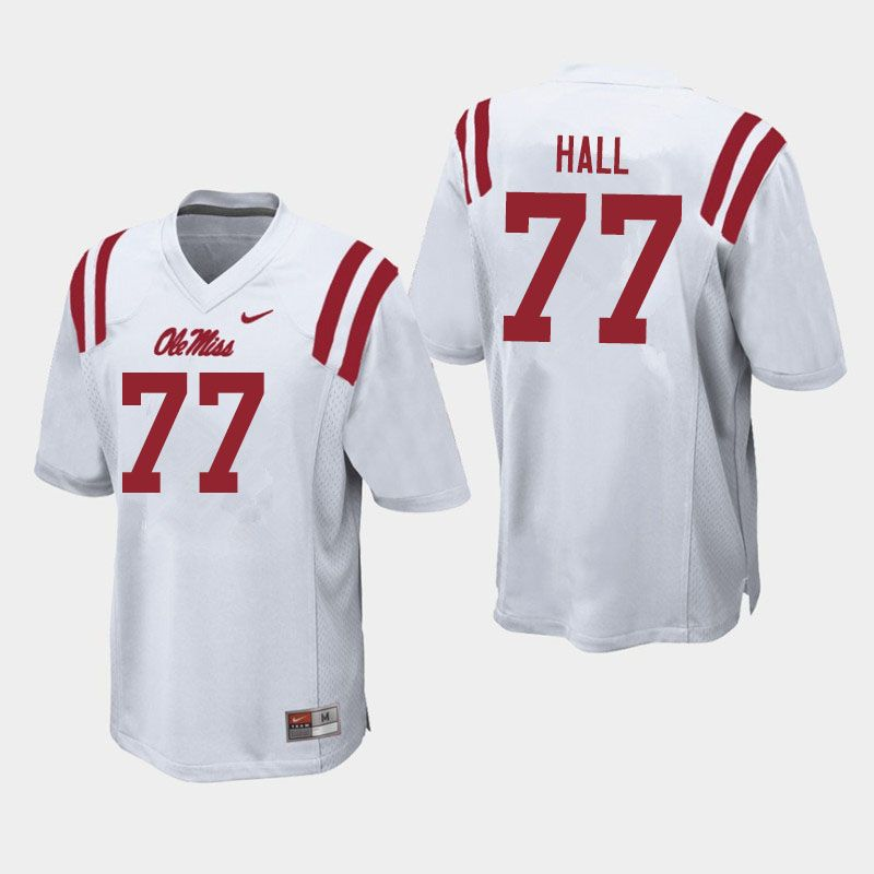 hot sale online db623 7f23b Men #77 Hamilton Hall Ole Miss Rebels College Football ...