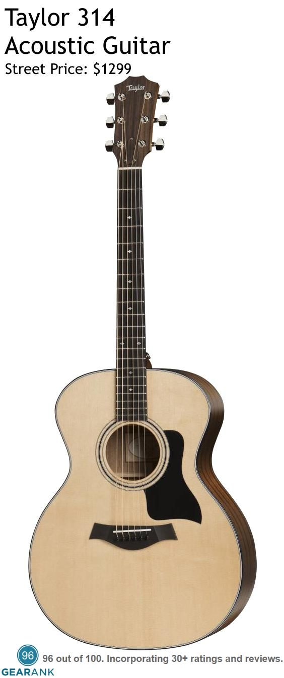 Taylor 314 Acoustic Guitar It Has A Medium Size Grand Auditorium Body Made With A Sitka Spruce Top Sapele Back And Sides Acoustic Guitar Guitar Cool Guitar