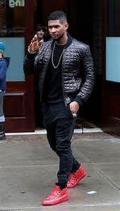 2a690bd430b6 Singer Usher in Red Balenciaga Men Shoes