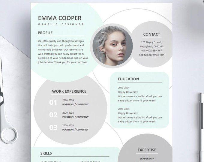 Hot Pink Resume Template/ Hot Pink CV Template