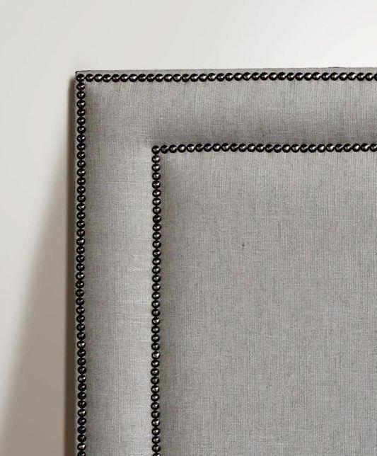 Studded Frame Headboard Studded Headboard Diy Bed Headboard Headboards For Beds