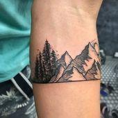 Geometric Tattoo – Armband Tattoo 76,  #Armband #Geometric #octopustattooneck #Tattoo - Krake Tätowierung Blog