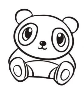 how to draw a cute panda step 7 bordados pinterest drawings