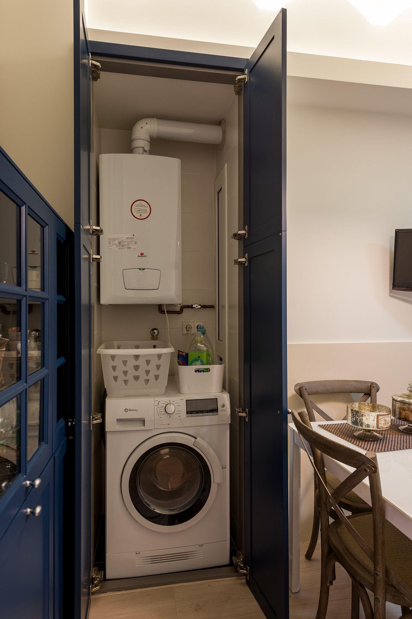 Coordinar gabinete de la cocina piso de madera de color - Armario Cocina Para Calentador Y Lavadora