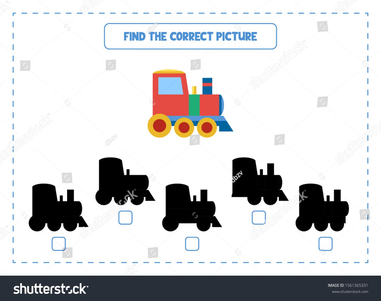 Find The Correct Shadow Game Educational Exercises For