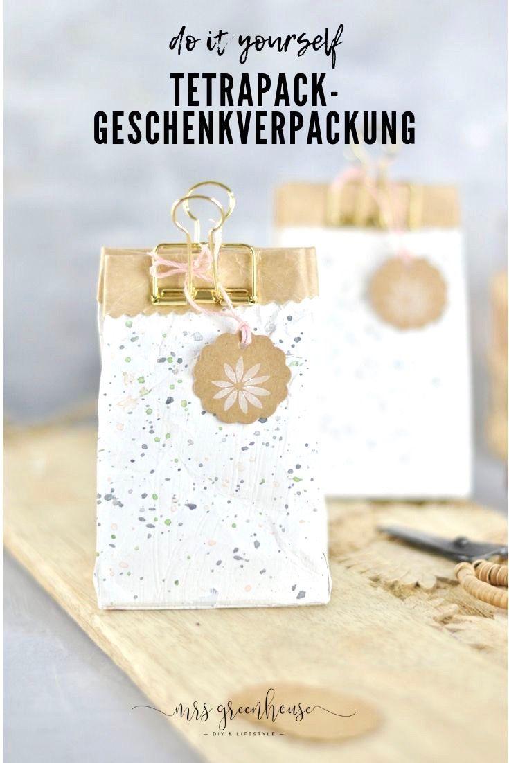 Upcycling Geschenkverpackung aus Milchtüte #upcyclingideen