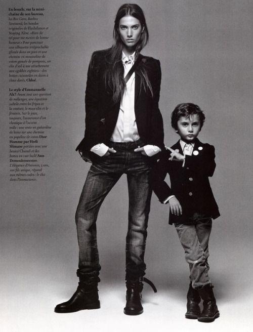 """contemporary-cph  """"Jessica Miller posing as Emmanuelle Alt, Vogue Paris """" 5e8f4a1e419"""
