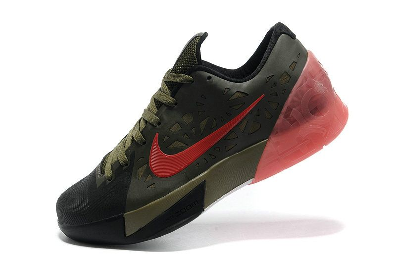 new products d1409 a600f Nike KD Trey 5 Army Green Sport Red Pink Force Army Green