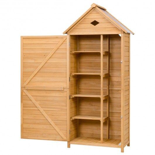 Holz Gartenschrank Gerätehaus Geräteschuppen Geräteschrank