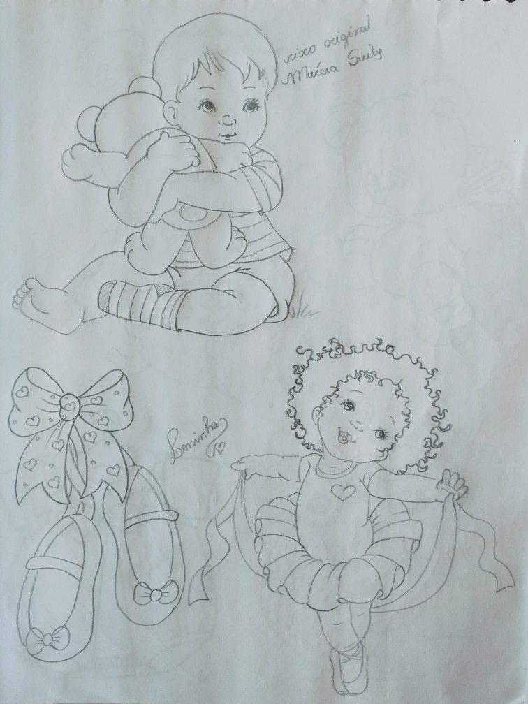 Pin De Stefanie Ceberlunde Em Riscos De Pintura Baby Bailarina Para Colorir Pintura Bebe Riscos Para Pintura