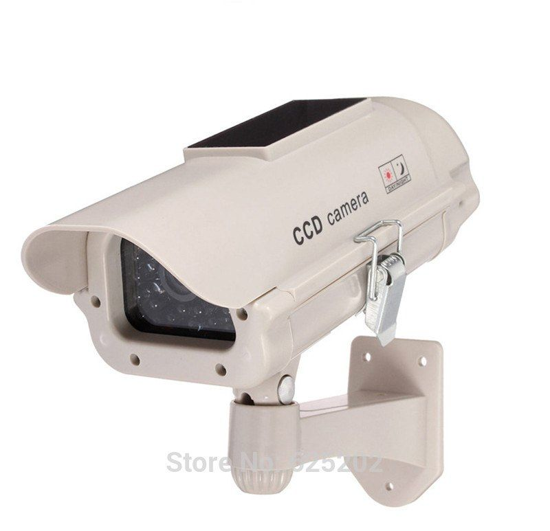Solar Power Dummy IR Camera Fake Security Camera Outdoor Waterproof