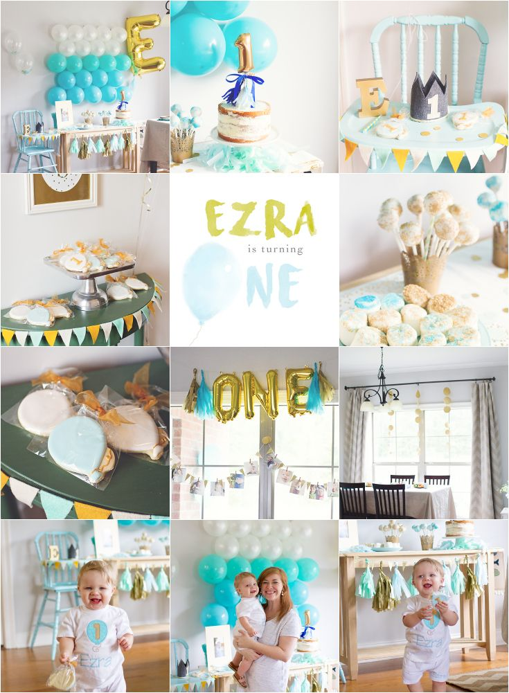 Ezras Ballon Themed First Birthday Party Activities Jackson Mississippi Celebration