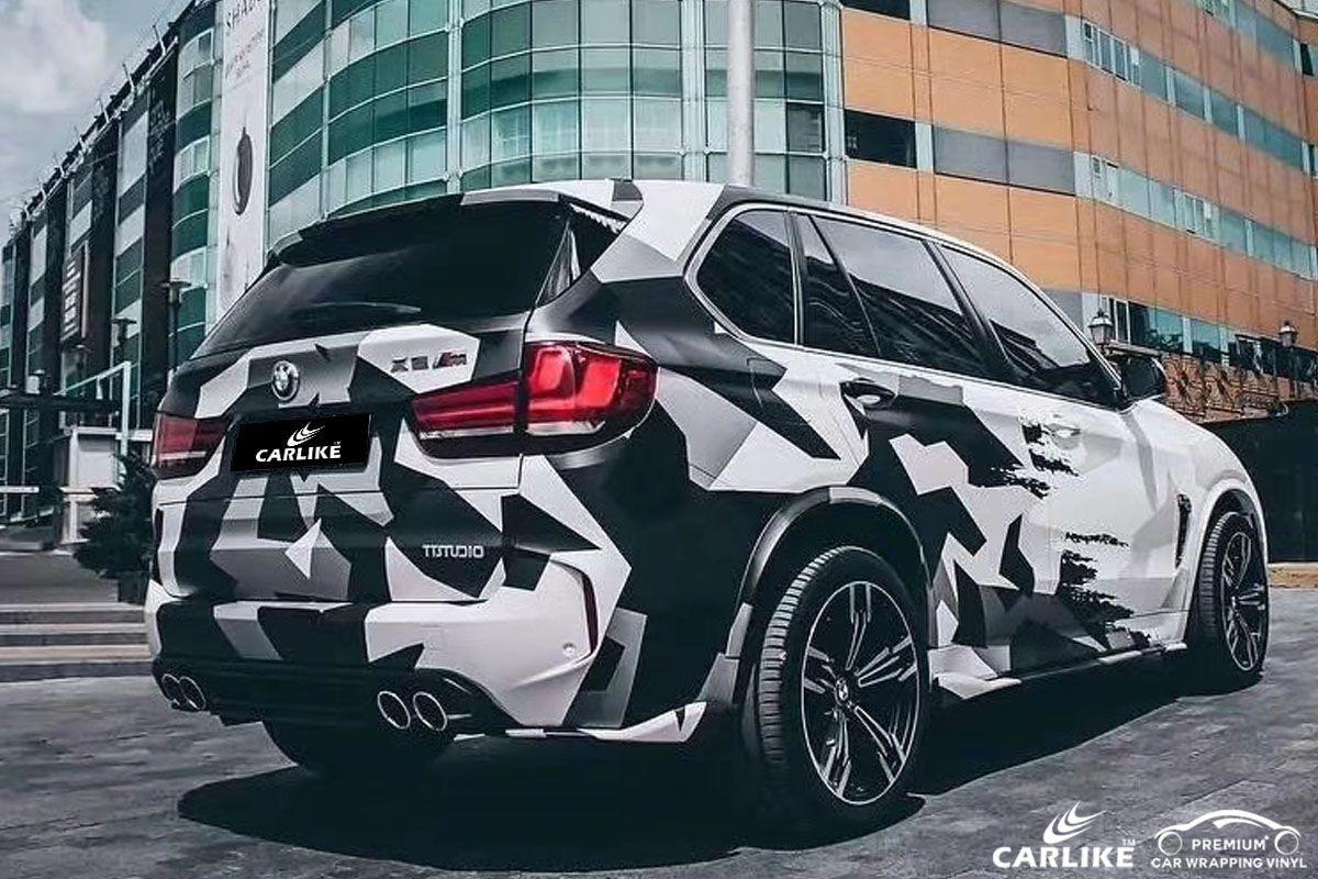 CLCA Camouflage car wrap vinyl for BMW SINO VINYL in