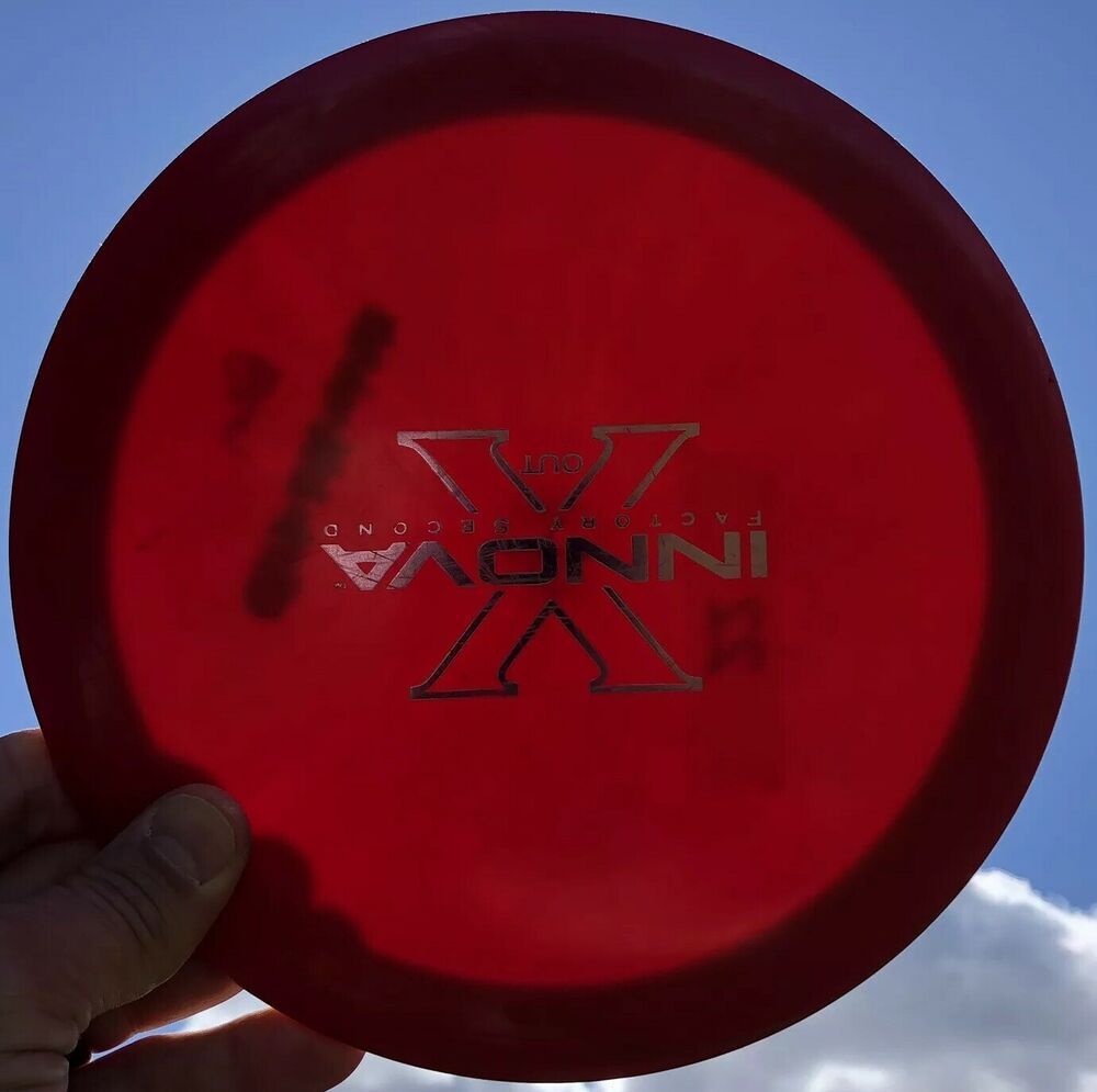 Advertisement Ebay Rare Patent S Red Star Wraith X Out 166 G Innova Disc Golf Oop 7 5 10 Innova Disc Golf Disc Golf Red Star