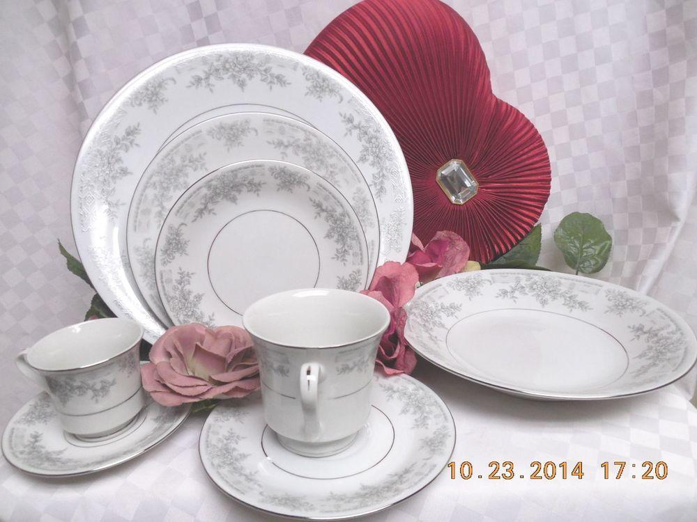 Lynns Fine china, Olivia, Empress, Gray