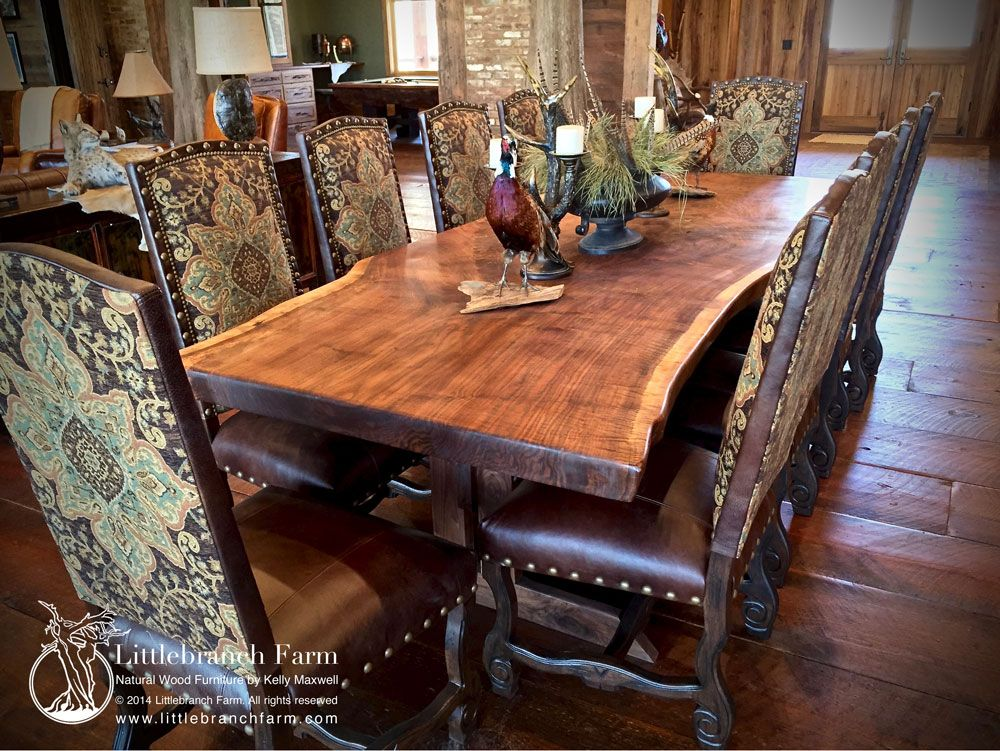 Rustic Dining Table Live Edge Dining Table Wood Slab Dining