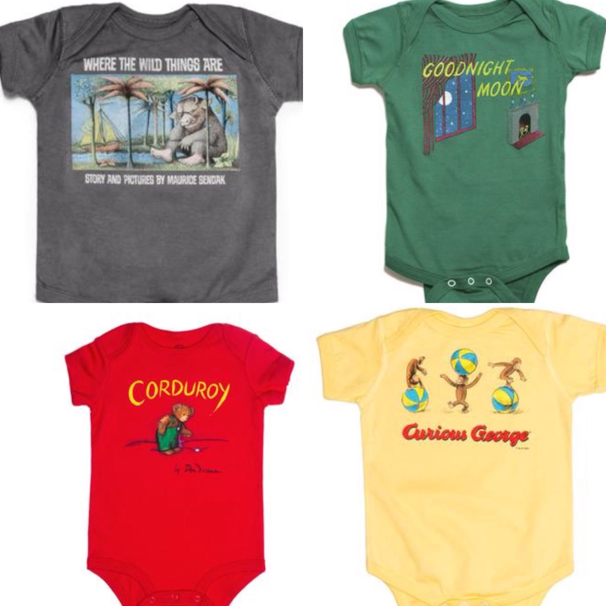 efa70aee Onesies & Toddler Shirts from Out of Print Clothing. Share your love of  books with your children. Where the wild things are. Goodnight Moon.  Curious George.