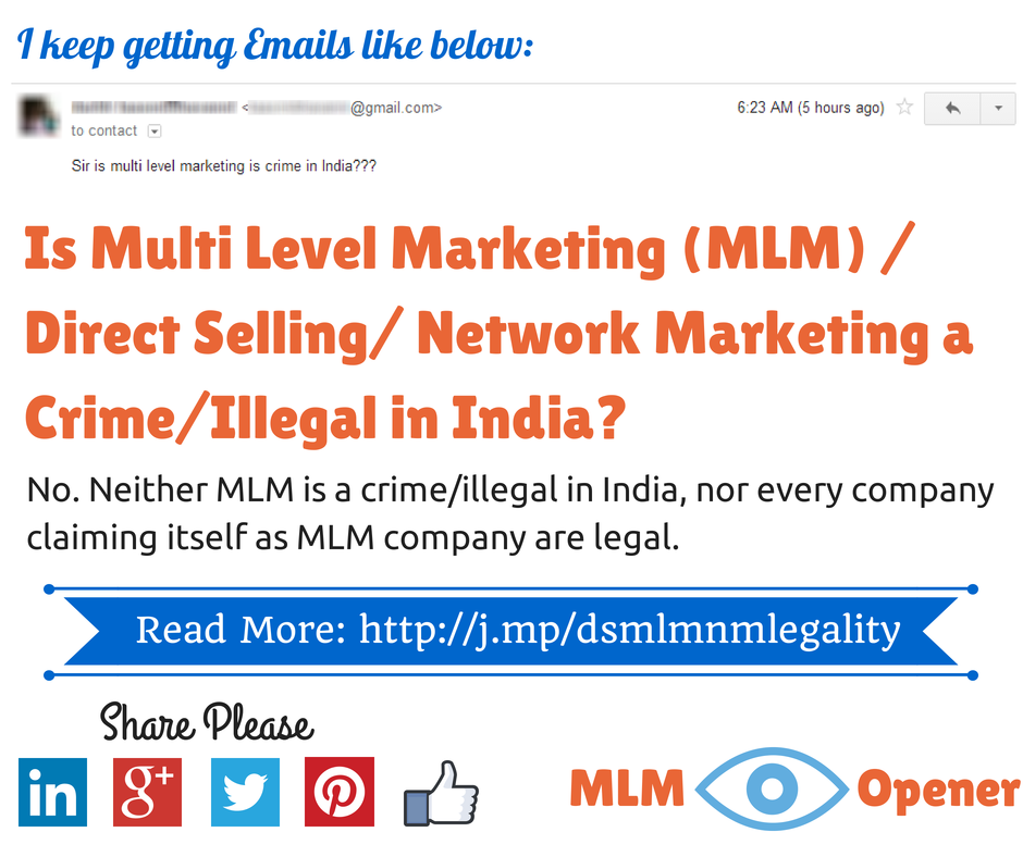 Is MLM A Crime In India NetworkMarketing Legal