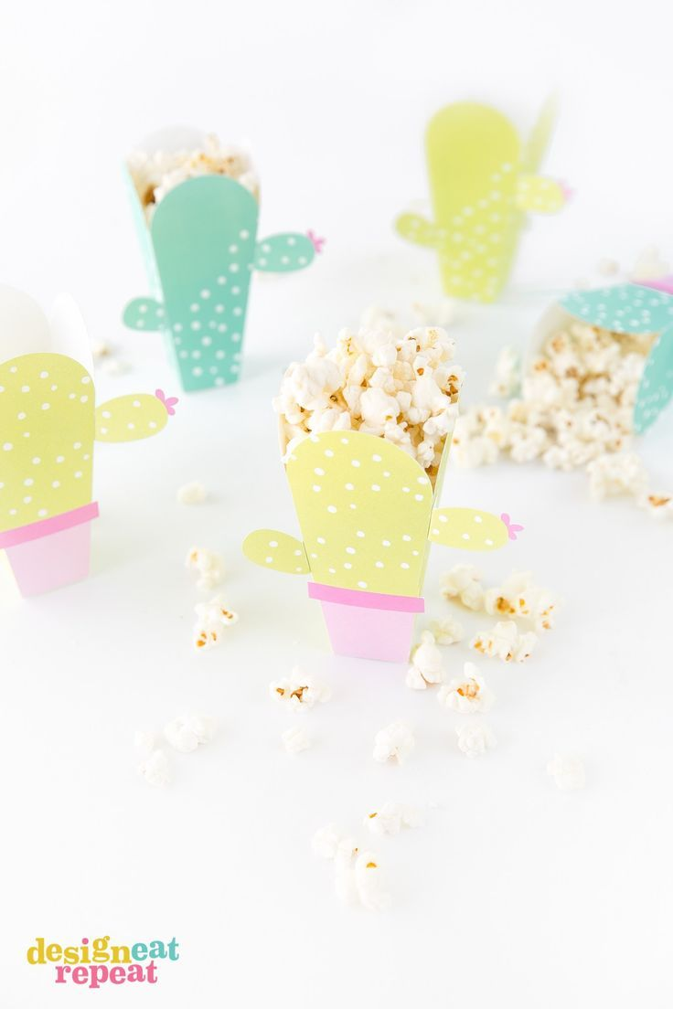 Can These Be Any Cuter Cactus Popcorn Boxes Get The Free Popcorn