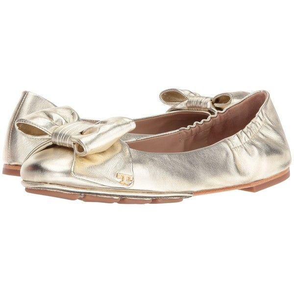 Tory Burch Divine Bow Driver Ballet Spark Gold Women