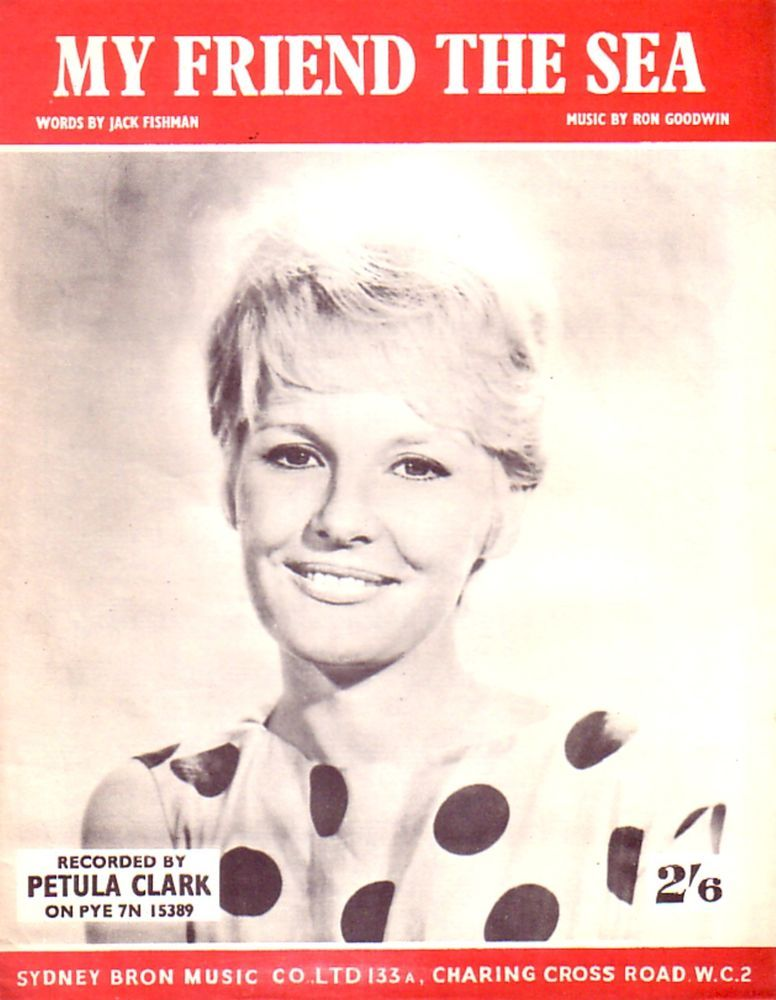 My Friend the Sea Sheet music for Piano & Voice 1961 Recorded by Petula Clark