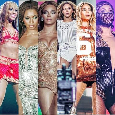 Beyoncé tour from 2004-2014