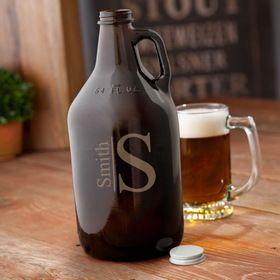 JDS GC1468 Monogrammed Amber Beer Growler -   19 crafts beer growler ideas