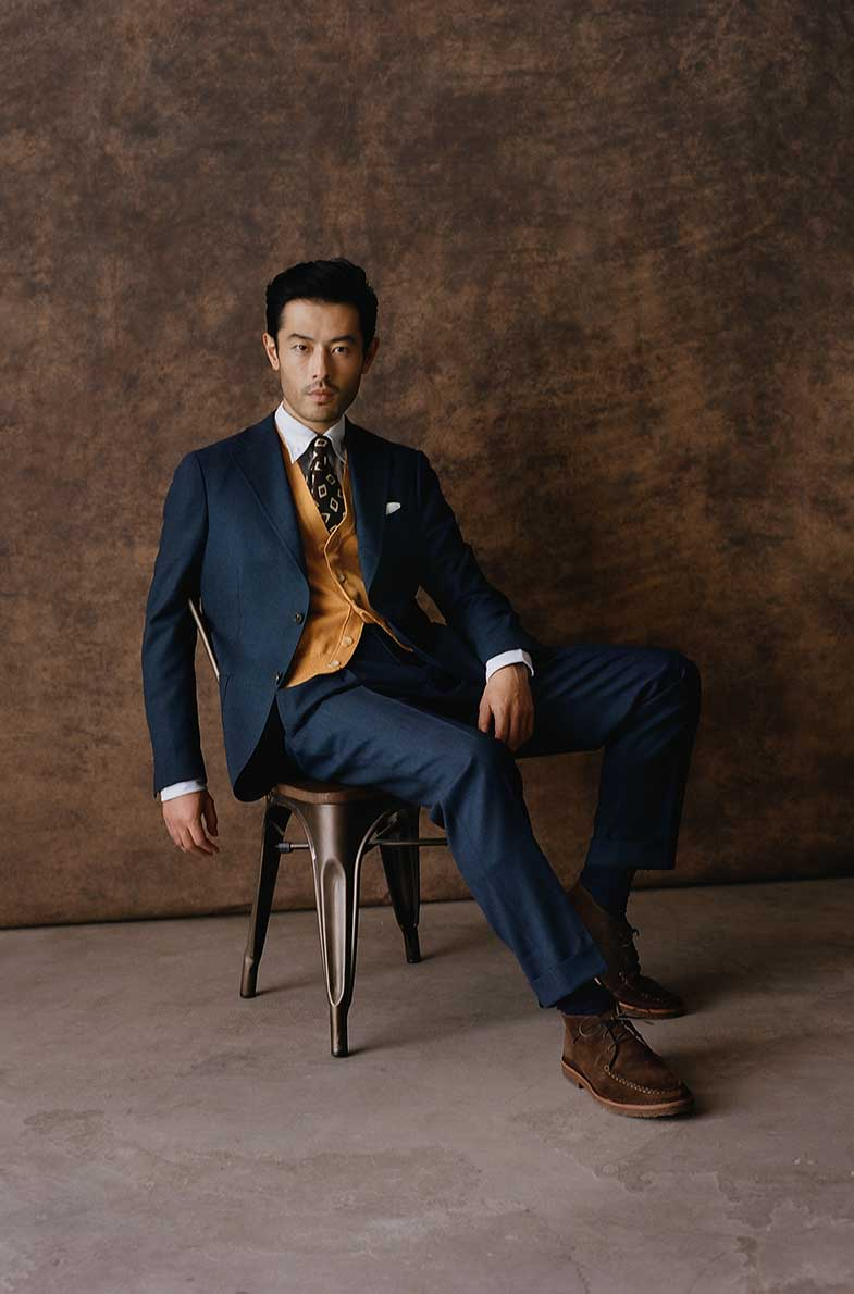 A Tailored Winter Wardrobe Drake S Blue Suit Outfit Mens Fashion Classic Gentleman Style