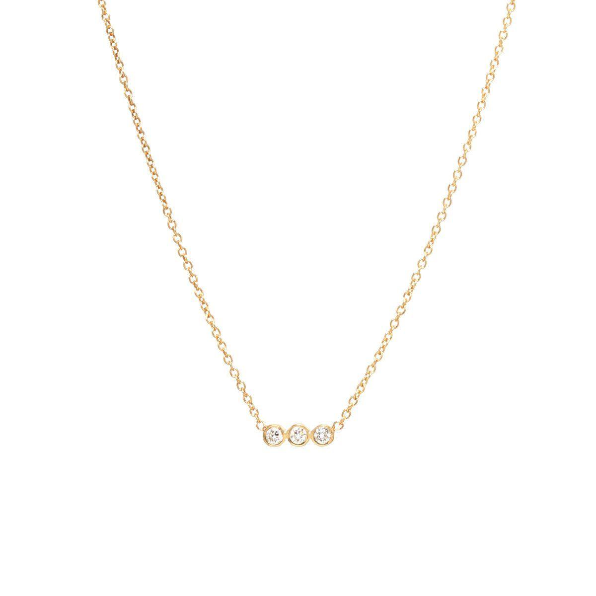 K horizontal bezel diamond necklace grannyus diamonds