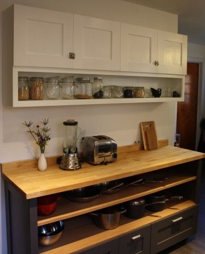 Open Shelving Kitchen Base Cabinet