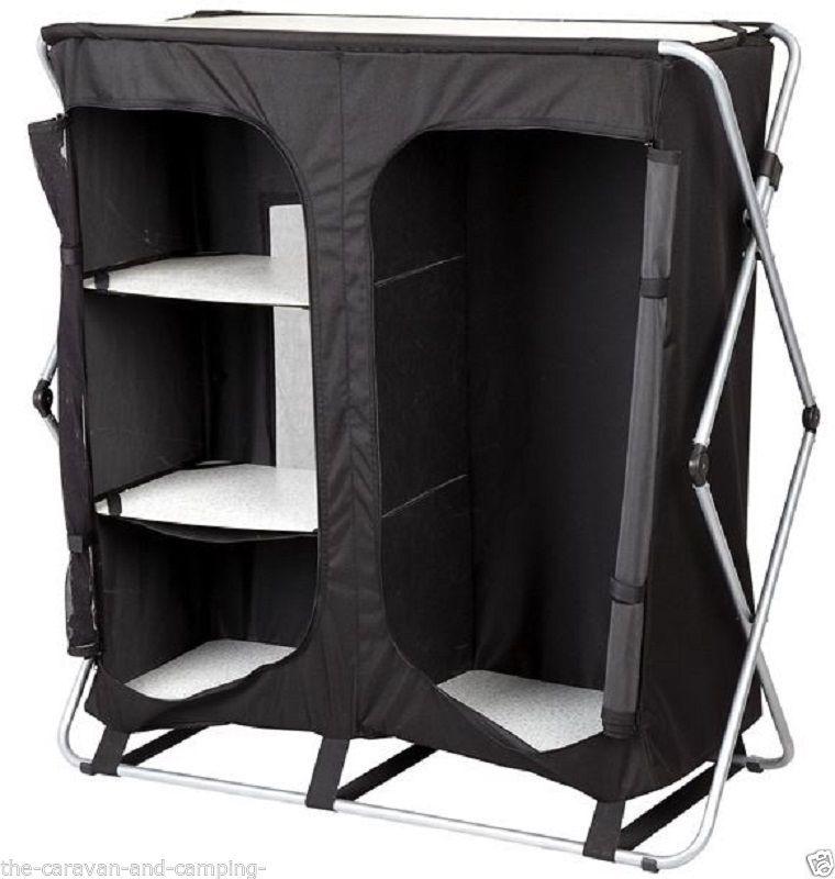 Easy Up Camping Wardrobe 3 Shelf Hanging Awning Wardrobe Caravan 355444 Wardrobe Storage Tent Family Tent Camping