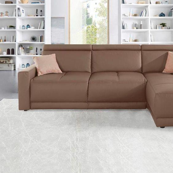 Domo Collection Eck Couch Kunstleder Komfortabler Federkern In