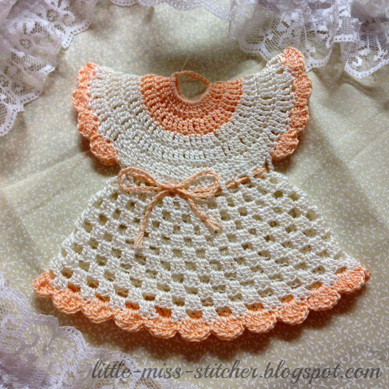 Little Miss Stitcher: Vintage Crocheted Dress Potholder | recuerdos ...