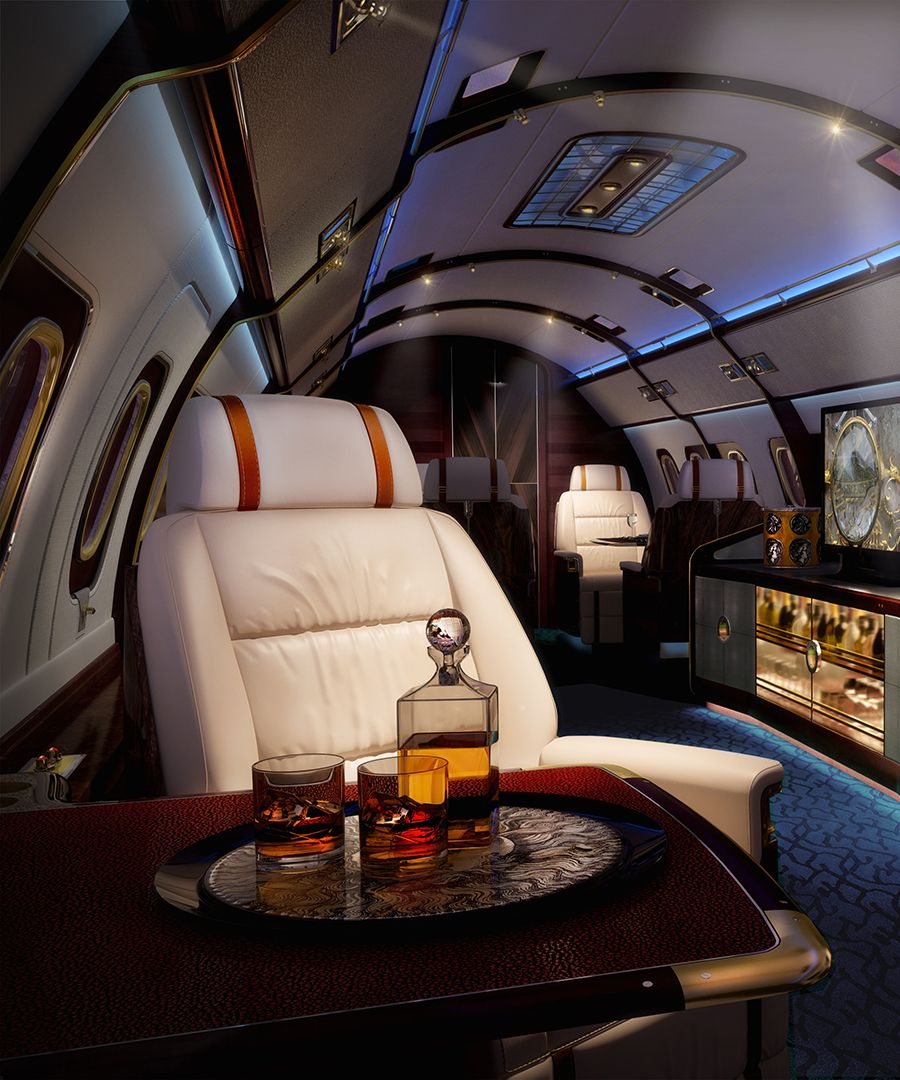 See pictures inside Skyacht One, a concept private jet designed by SottoStudios.