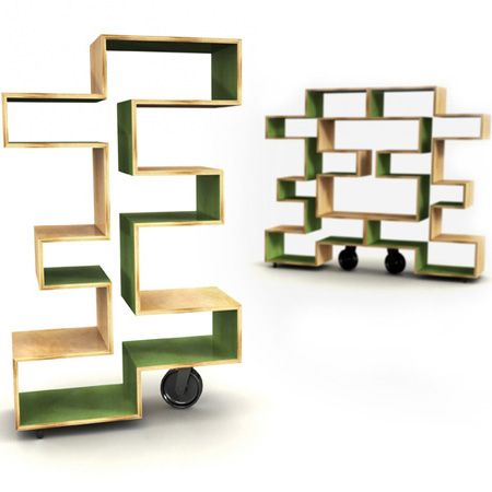 Rolling Bamboo Shelves By A South African Designer Bookcase Diy Funky Home Decor Unique Bookshelves