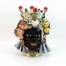 Teste Ceramica : Testa Ceramica Uomo Caltagirone Frutta H 30