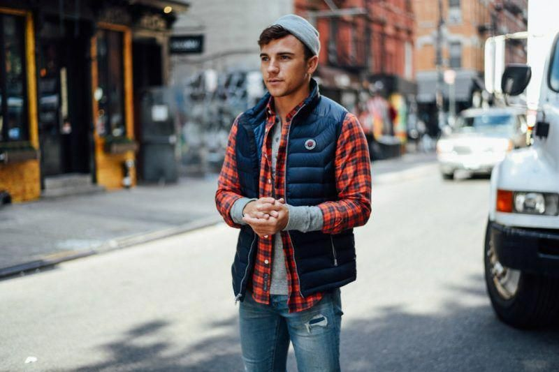 Red Flannel Shirt Mens Street Style Fallmensfashion Hot Guys